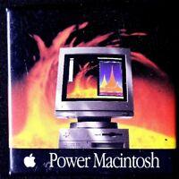 POWER MACINTOSH PINBACK -= COLLECTABLE - ORIGINAL BUTTON SCARCE