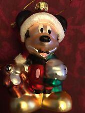 Santa's Best Disney Blown Glass Mickey Mouse Christmas Ornament