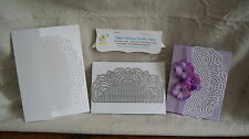 """VICTORIAN LACE DETAILED CARD EDGE Carbon Steel Cutting Die! - 5.8"""" x 2.8"""" - New!"""