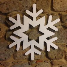 Kit 12pz stelle fiocchi di neve assortiti 60cm. Addobbo casa vetrine Natale