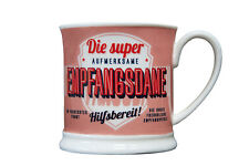 Empfang Becher DIE SUPER EMPFANGSDAME Retrobecher Kaffeebecher von GlasXpert