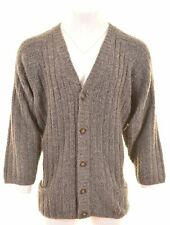 CERRUTI 1881 Mens Cardigan Sweater XL Grey Wool Oversized  FO39