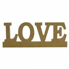 DIY Unfinished MDF Wooden Wood Love Word ~ 23cm x 9cm - Standing or Hanging