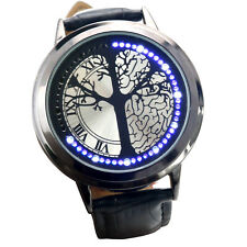 TRIXES Black LED Touch Screen Unisex Watch Adjustable Faux Leather Strap