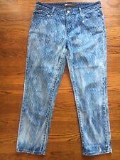 Levis Mid-Rise Skinny RARE Tie-Dye Diamond Print Wash Jeans 10 /30 M (N#1247)