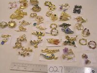 Huge Selection Vtg Filigree Brooch Lot + Others Add Rhinestone Flower + Clip on