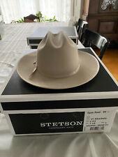 Stetson Open Road SilverBelly 6x Beaver Cowboy Western Hat 7 1/8