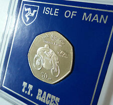 2010 Isle of Man Tourist Trophy Motorcycle Race TT Races 50p Coin Gift Display