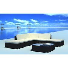 Vidaxl conjunto modular de Poli Ratán negro 15 piezas
