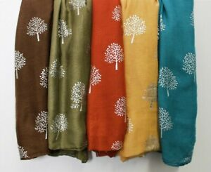 New Mulberry Tree Silver Foil Print  Scarf Shawl Wrap Cotton Christmas Stocking