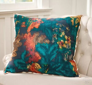 NWT Pottery Barn Leyton Floral Watercolor 3 available Ikat Pillow Cover 24 x 24