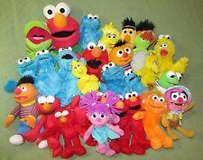 LARGE Lot 29 Sesame Street Plush Stuffed Jumbo Elmo Talking + Ernie Bert Cookie