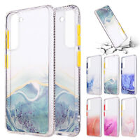 For Samsung S21 Plus Note 20 Ultra S20 FE 5G Marble Soft TPU Clear Case Cover