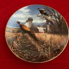 David Maass Pheasant Plate Collection~The Danbury Mint~F7655~Late Autumn