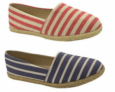 Casual Striped Espadrilles Flats for Women