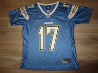 Philip Rivers #17 Los Angeles Chargers Reebok NFL Jersey Women's M Medium