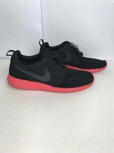 Mens Nike Roshe Run Black Siren Red Anthracite 511881-016 Size 11 Bred Red