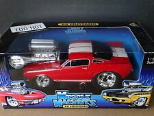 Muscle Machines 1966 Shelby Mustang GT-350 Red 1:18 Scale Diecast '66 Ford Car