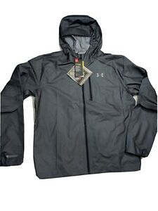Underarmour Gore-tex Storm Proof Men's Jacket sz L Gray Black NWT 1342710-001