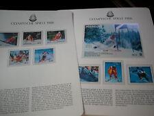 Olympische Spiele 1988 - 1 Luxus BLOCK +Satz 8 w. xx PARAGUAYcalgary sportarten