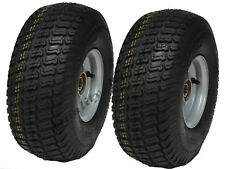 15x6.00-6 grass tyre on rim-lawnmower- cart-buggy, trailer, 20mm BB - set of 2 -