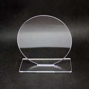 3mm Clear Standing Circle Plaque Blanks, Rectangle Perspex Sign Blank