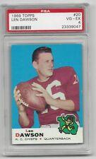 Len Dawson 1969 Topps Card # 20,  PSA - VG / EX - 4. Kansas City Chiefs