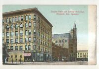 Empire State and Review Buildings Riverside Avenue SPOKANE WA Vintage Postcard