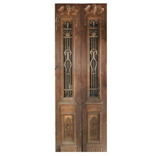 Pair of 33� Antique Figural Doors with Iron Inserts, Ned1105