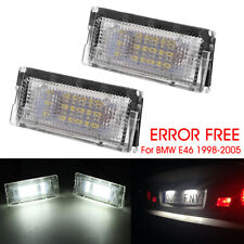 2pcs LED License Number Plate Light Lamp Canbus Error Free For BMW 3 Series E46