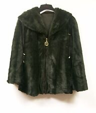 IMAN Luxury Mink Faux Fur Jacket Platinum Collection $199.95 OLIVE GREEN Small