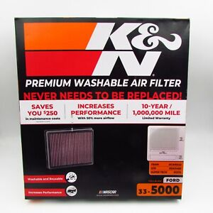 K&N Filter 13-21 Ford Lincoln Edge Fusion Galaxy Mondeo S-Max Continental MKZ