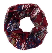 Tubo Rojo Azul Gris de Ella Jonte Pañuelo Mujer Bufanda Viscosa Tropic Hoja