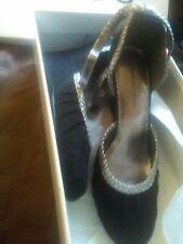 Newport News Shoes Sz 8 Womens Black Wedge Heels Black NWOB