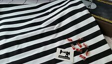 50cm black and white stripe cotton lycra 95/5 fabric 4 way stretch knit fabri