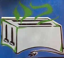 "DOUG Z: Spraypaint Surrealizm ""Toaster"" Contemporary Custom Frame Element Artist"