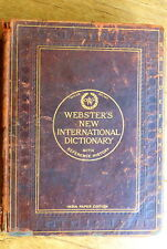Webster's international dictionary - India paper edition in leather -antiquarian