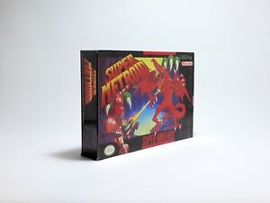 Super Metroid replacement box USA version Snes (Only box) Replica