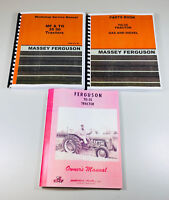 SET MASSEY FERGUSON TO-35 GAS TRACTOR SERVICE OPERATOR PARTS MANUAL REPAIR SHOP