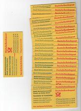 1980-1988 Bund MH 22 I mit H-Bl. 27 I ** postfrisch 25 Stück alles verschiedene