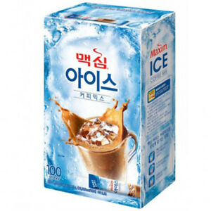 Maxim Iced Coffee Mix 100T Korea Easy To Instant Drink With Cold Water