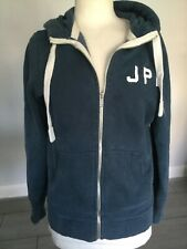 Superdry Ladies Blue Zip Front Hoodie / Sweatshirt Size M. Good Condition.