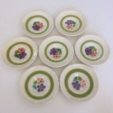 "Seven (7) Franciscan Earthenware Floral Pattern 5 5/8"" Saucers Small Plate EUC!"