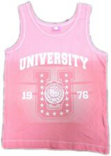 Hello Kitty t shirt top vest Children NEW 100% Official  girl pink sleeveless