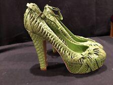 BRAND NEW rare CHRISTIAN DIOR Snakeskin Women's Heels 39.5 Italy Leather women