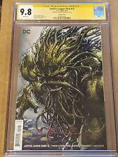 Justice League Dark #12 Swamp Thing Variant CGC 9.8 SS Clayton Crain