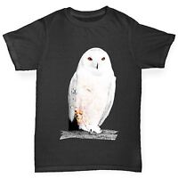 Twisted Envy Boy's Clockwork Snowy Owl T-Shirt