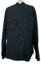 YSL MEN'S VINTAGE NAVY COTTON DRESS SHIRT, 41/16