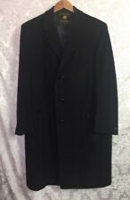 Men's SOCIETY BRAND Coat Cashmere Black Full Length Overcoat Top Coat Vintage