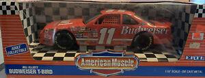 1993 Ertl T-Bird Bill Elliott #11 Budweiser 1/18 American Muscle Diecast Car NIB